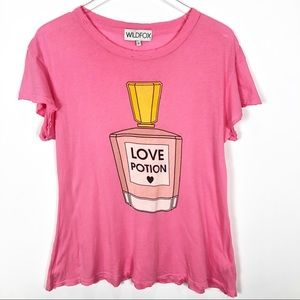Wildfox Love Potion Distressed Flow Tee